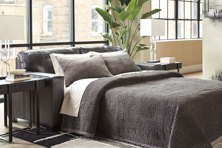 Picture of Morelos Leather Gray Queen Sofa Sleeper