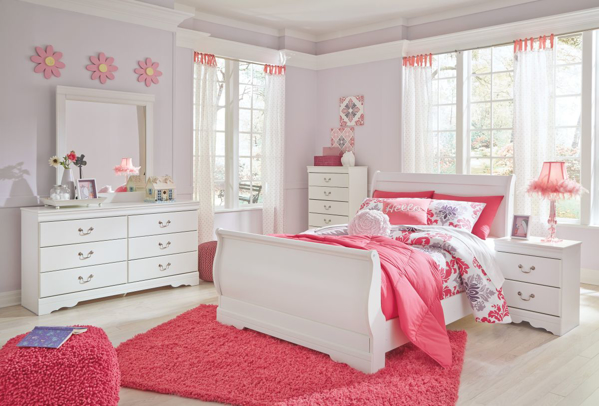 Picture of Anarasia 6-Piece Full Sleigh Bedroom Set