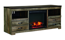 Picture of Trinell Large TV Stand with Fireplace