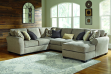 Picture of Pantomine Driftwood 4-Piece Right Arm Facing Sectional