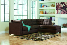Picture of Maier Walnut 2 Piece Right Arm Facing Sectional