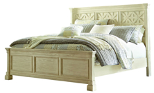 Picture of Bolanburg Antique White King Panel Bed