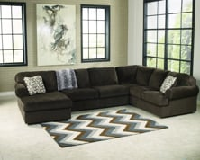 Picture of Jessa Place Chocolate Left Arm Facing Sectional
