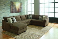 Picture of Justyna Teak 3 Piece Left Arm Facing Sectional