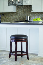 "Picture of Porter 24"" Upholstered Swivel Stool"