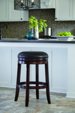 "Picture of Porter 30"" Upholsered Swivel Stool"