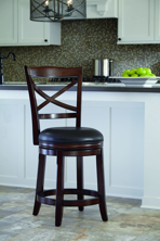 "Picture of Porter 24"" Upholstered Swivel Barstool"