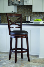 "Picture of Porter 30"" Upholstered Swivel Barstool"