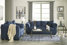 Picture of Darcy Blue 2 Piece Living Room Set