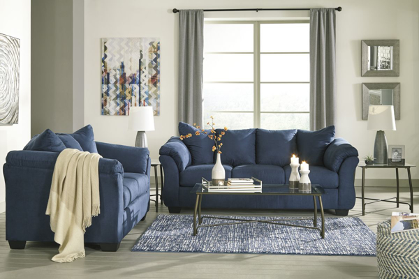 Amazing Darcy Blue 2 Piece Living Room Set Gmtry Best Dining Table And Chair Ideas Images Gmtryco