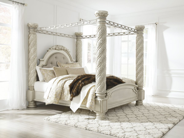 Picture Of Cimore King Canopy Bed