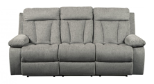 Picture of Mitchiner Fog Reclining Sofa With Drop Down Table