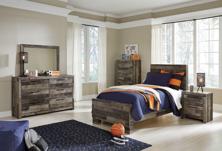 Picture of Derekson 6-Piece Twin Panel Bedroom Set