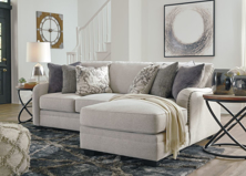 Picture of Dellara Chalk 2-Piece Right Arm Facing Sectional