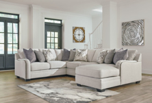 Picture of Dellara Chalk 4-Piece Right Arm Facing Sectional