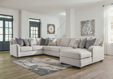 Picture of Dellara Chalk 5-Piece Right Arm Facing Sectional