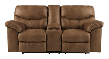 Picture of Boxberg Bark Reclining Loveseat w/Console
