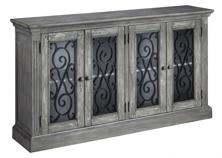Picture of Mirimyn Antique Gray Door Accent Cabinet