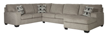 Picture of Ballinasloe Platinum 3-Piece Right Arm Facing Sectional