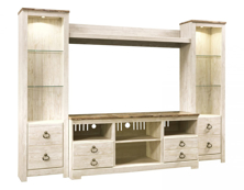 Picture of Willowton 4-Piece Entertainment Wall Unit