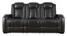 Picture of Party Time Midnight Power Sofa With Adjustable Headrest