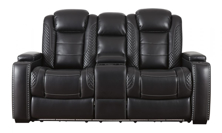 Picture of Party Time Midnight Power Reclining Loveseat With Adjustable Headrest