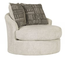 Picture of Soletren Stone Swivel Accent Chair