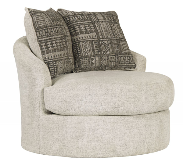 Soletren Stone Swivel Accent Chair Chairs Furniture