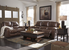 Picture of Rackingburg Mahogany 2-Piece Leather Reclining Living Room Set