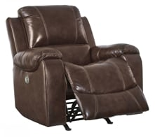 Picture of Rackingburg Mahogany Leather Power Recliner