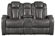 Picture of Turbulance Quarry Power Reclining Loveseat With Adjustable Headrest