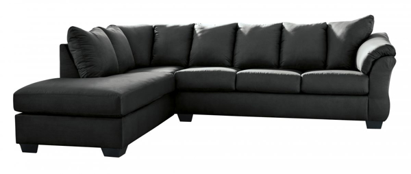 Picture of Darcy Black 2-Piece Left Arm Facing Sectional