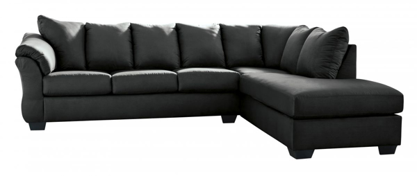 Picture of Darcy Black 2-Piece Right Arm Facing Sectional