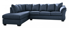 Picture of Darcy Blue 2-Piece Left Arm Facing Sectional
