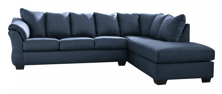 Picture of Darcy Blue 2-Piece Right Arm Facing Sectional