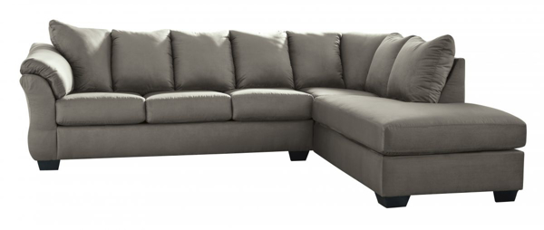 Picture of Darcy Cobblestone 2-Piece Right Arm Facing Sectional