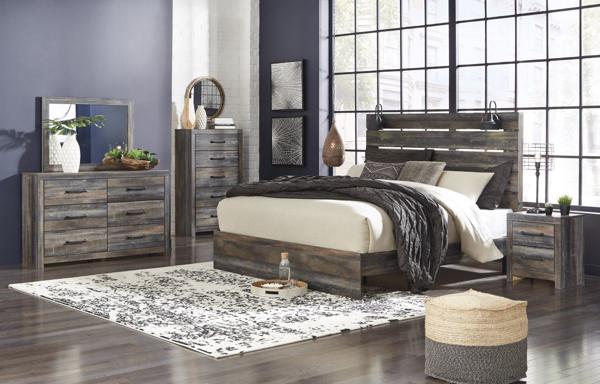 Picture of Drystan 6-Piece King Panel Bedroom Set