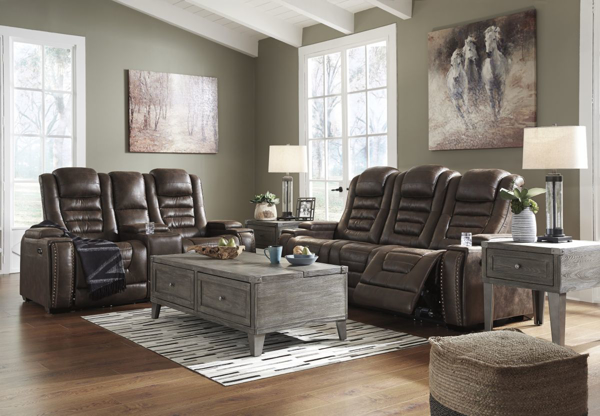 Game Zone Bark 2 Piece Power Reclining Living Room Set