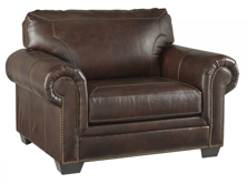 Picture of Roleson Walnut Leather Chair & 1/2
