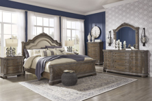 Picture of Charmond 6-Piece King Sleigh Bedroom Set