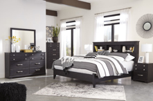 Picture of Reylow King 6-Piece Bookcase Bedroom Set