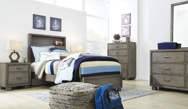 Picture of Arnett 6-Piece Full Bookcase Bedroom Set
