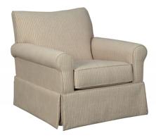 Picture of Almanza Cinnamon Swivel Glider Accent Chair