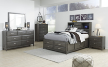Picture of Caitbrook 6-Piece Youth Full Storage Bedroom Set