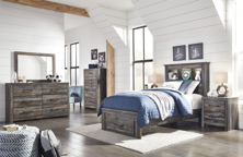 Picture of Drystan 6-Piece Twin Bookcase Storage Bedroom Set