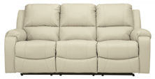 Picture of Rackingburg Cream Leather Reclining Sofa