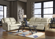 Picture of Rackingburg Cream 2-Piece Leather Reclining Living Room Set