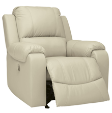 Picture of Rackingburg Cream Leather Power Rocker Recliner