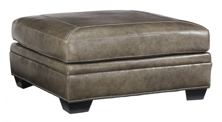 Picture of Roleson Quarry Leather Overized Accent Ottoman
