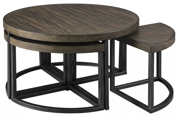 Picture of Johurst Cocktail Table With 4 Stools